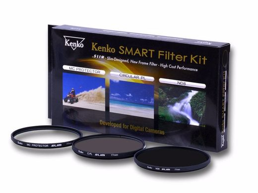 Kenko SMART Slim Filter Kit (Protector, C-POL, ND8 + kotelo)