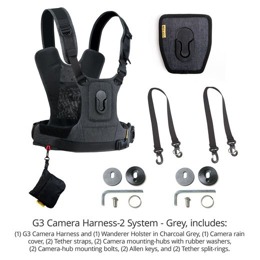 Cotton Carrier 3G Camera Harness System kahdelle kameralle (147GREY)
