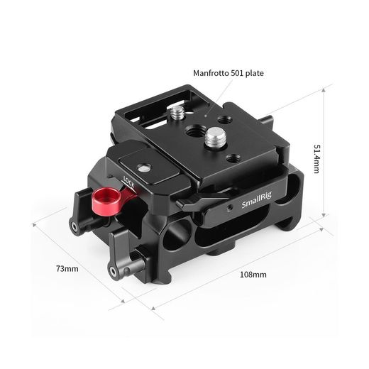 SmallRig Baseplate for BMPCC 4K / BMPCC 6K(Manfrotto 501PL Compatible) 2266