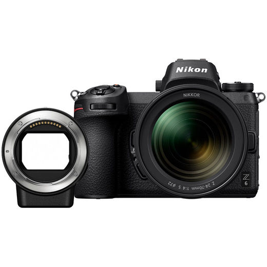 Nikon Z6 Z-mount +  Z-NIKKOR 24-70mm + F-adapter