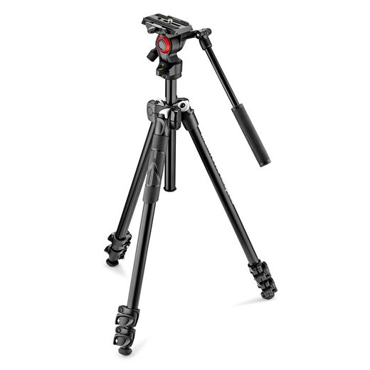 Manfrotto 290 Light alumiinijalusta + 400AH videopää (MK290LTA3-V)