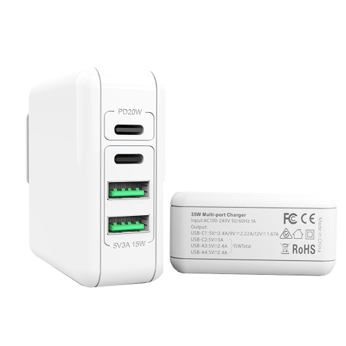 USB / USB-C 35W Power Adapter