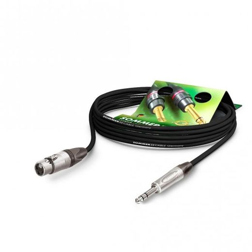 OUTLET Sommercable The Stage XLR-naaras -> 6,3 mm PVC plug kaapeli 50cm