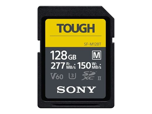 SONY M-series Tough SD 128GB 18x stronger UHS-II R277 W150mbs