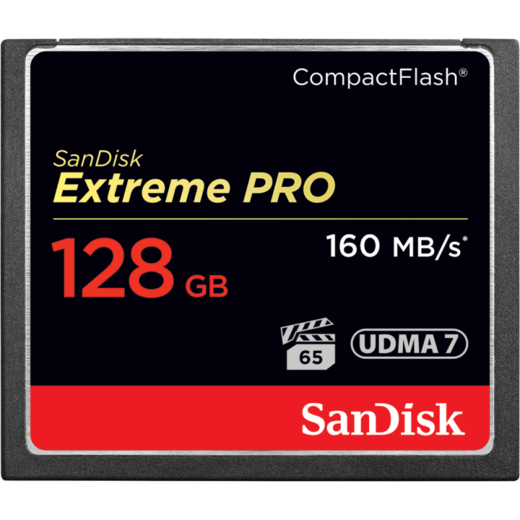 SanDisk 128GB Extreme PRO Compact Flash (CF) 160MB/s