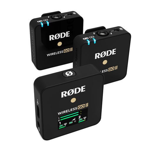 Rode Wireless GO II Compact Wireless Microphone System (2.4 GHz), musta