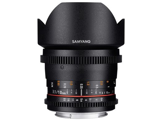 VDSLR II versio Samyang 10mm T3.1 ED AS NCS CS CANON